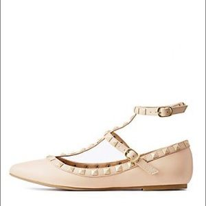 Charlotte Russe studded flats